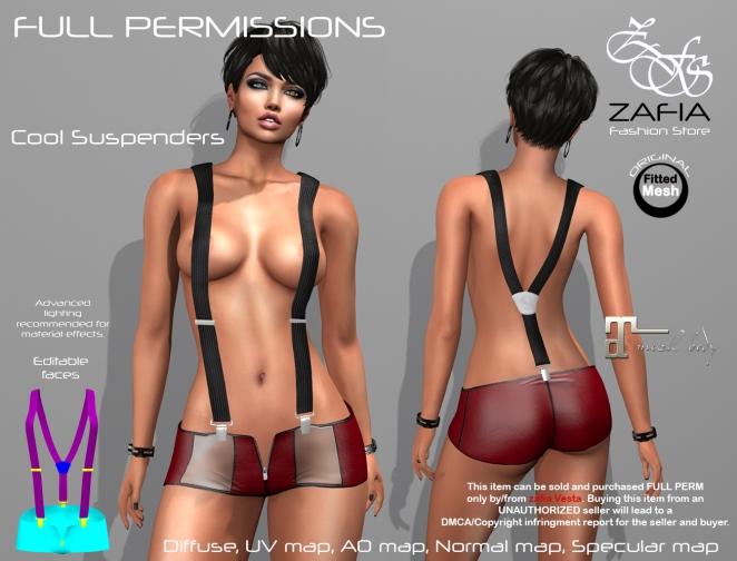 Full Perm-ZAFIA Cool Suspenders. – ZAFIA Fashion Store