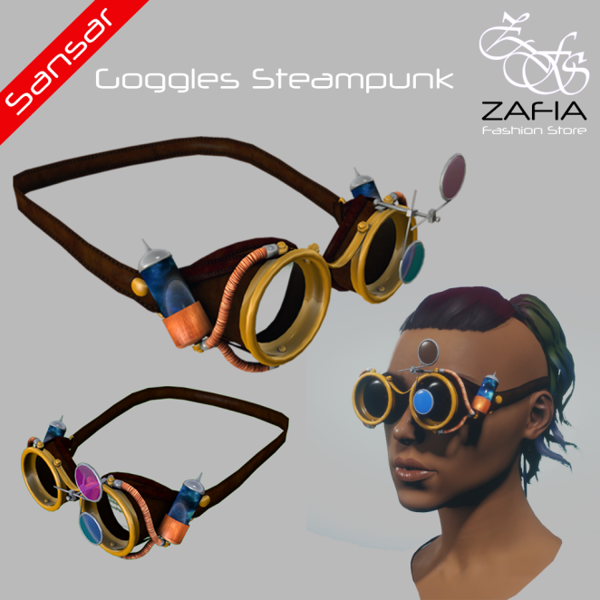 ZAFIA Goggles Steampunk Female Sansar