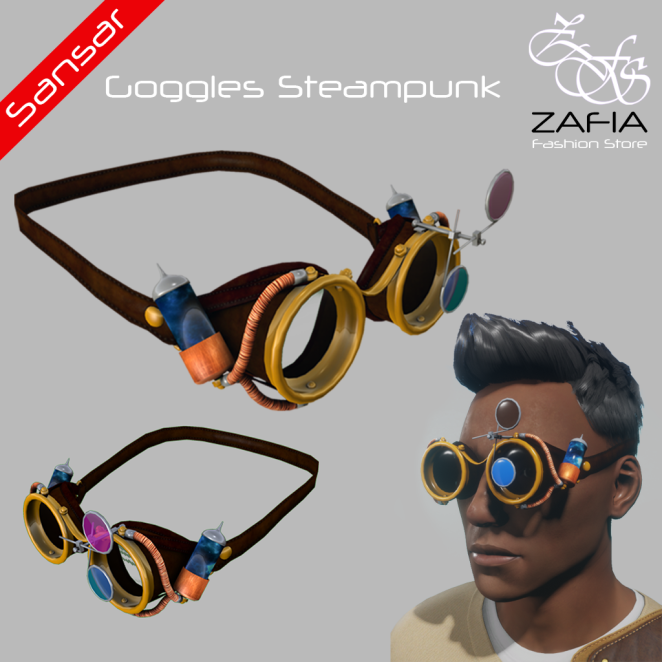 ZAFIA Goggles Steampunk Male Sansar
