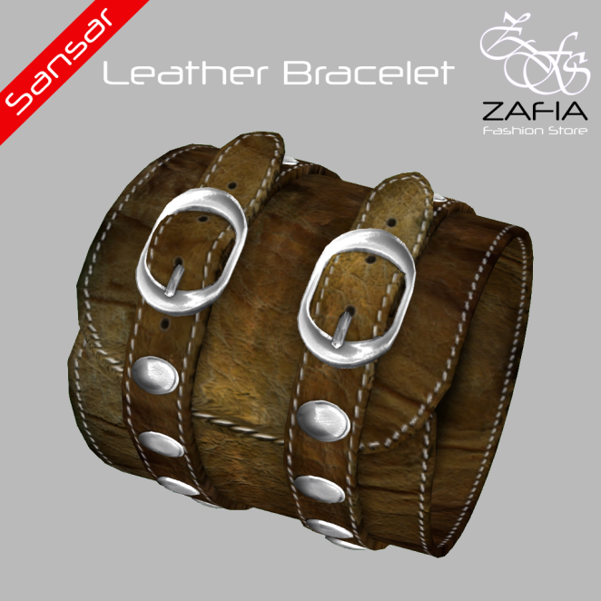 ZAFIA Leather Bracelet Female Sansar