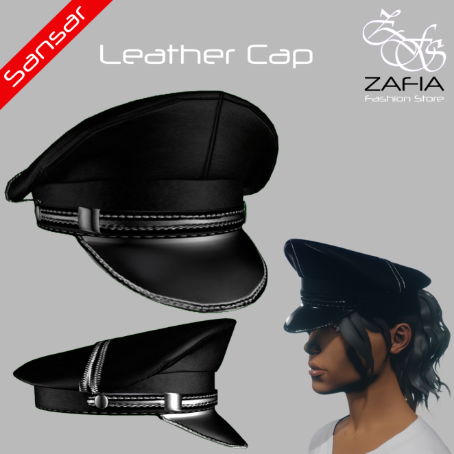 ZAFIA Leather Cap Female Sansar