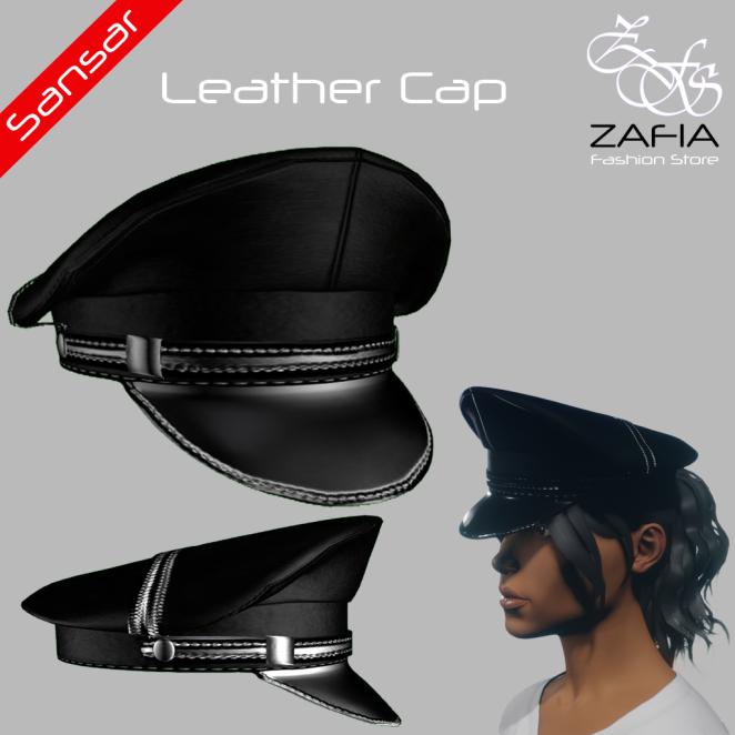 ZAFIA Leather Cap Female Sansar