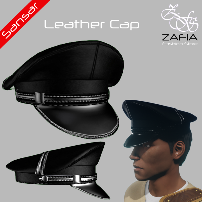 ZAFIA Leather Cap Male Sansar