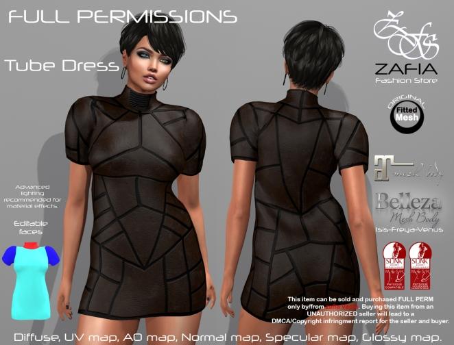 Full Perm ZAFIA Tube Dress. – ZAFIA Fashion Store