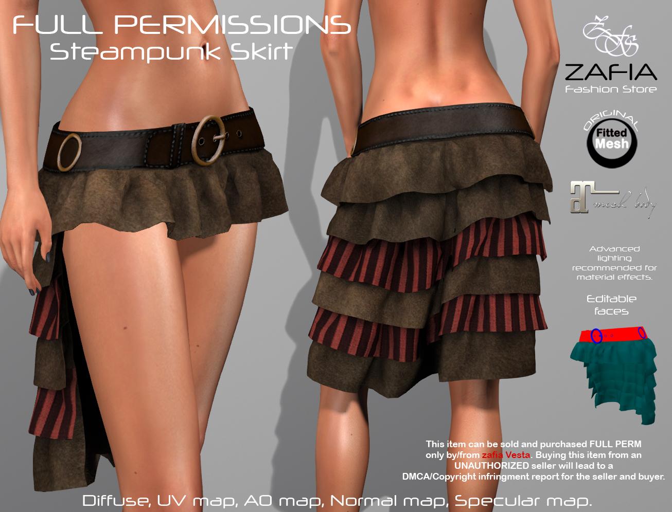 Steampunk Skirt Maitreya