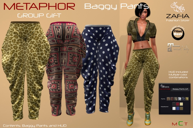 GROUP GIFT-METAPHOR Baggy Pants. – ZAFIA Fashion Store